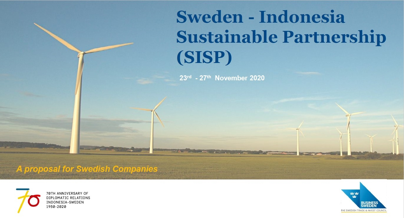 """We invite you to join """"Sweden–Indonesia Sustainable Partnership"""""""