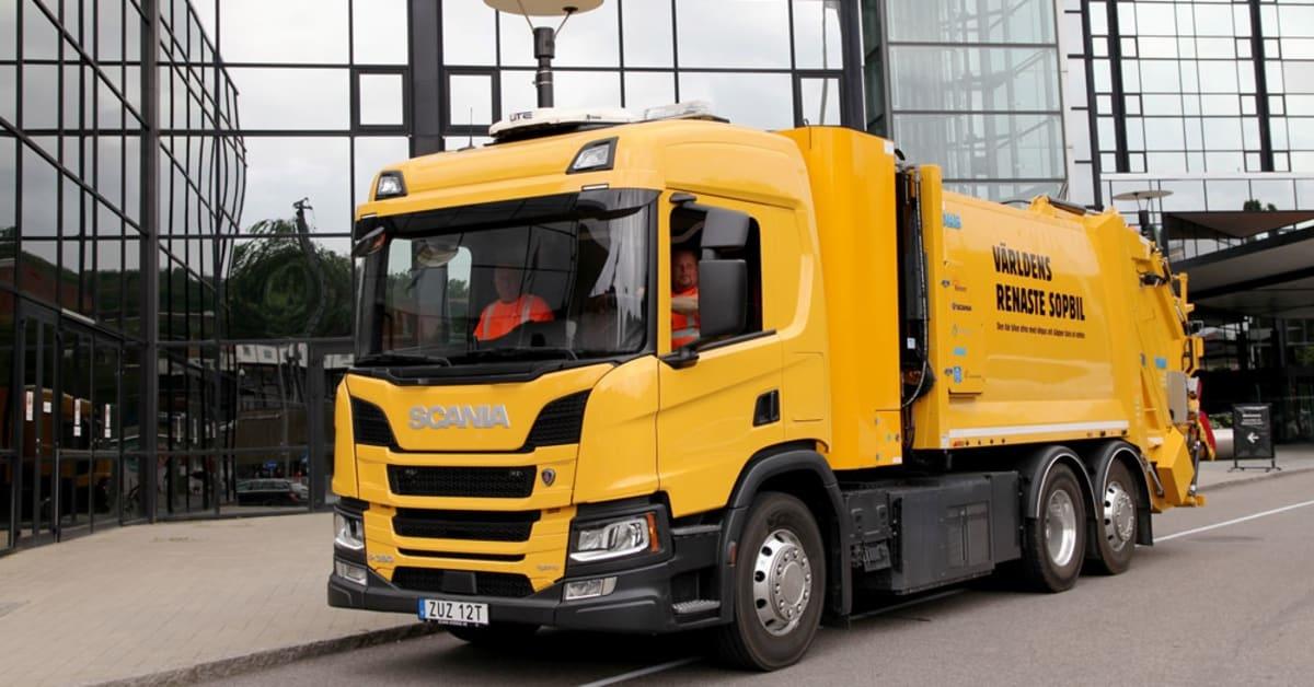 Sweden's first hydrogen-powered garbage truck is now rolling around Gothenburg